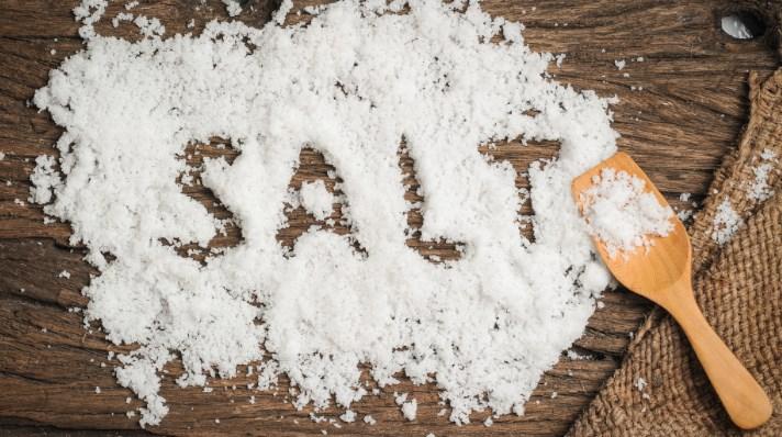 for meget salt i kroppen